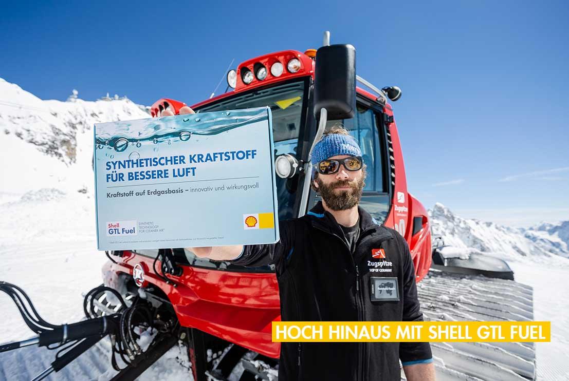 Weniger Lokale Emissionen auf der Zugspitze mit Shell GTL Fuel von Bronberger & Kessler
